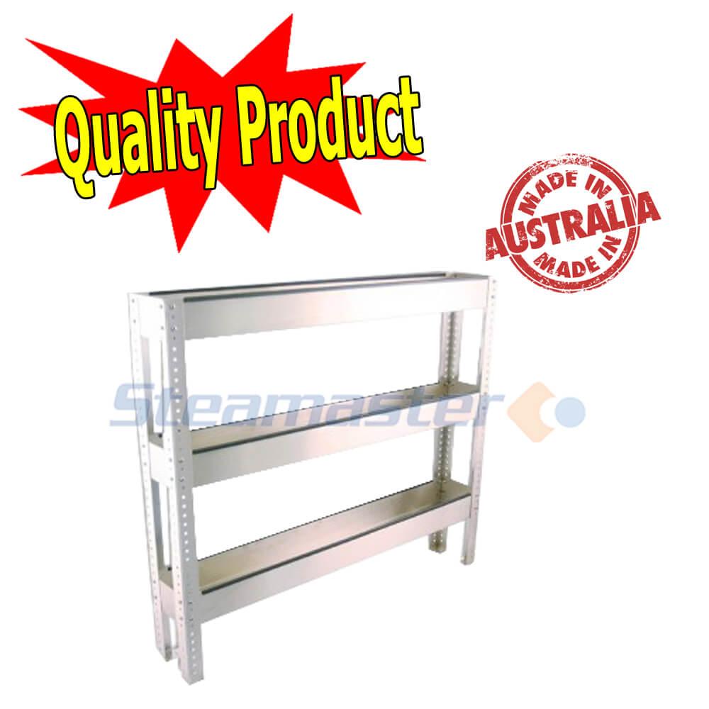 Chemical Shelf Grey Powder Coated 3 Tier Chemical Shelf