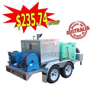 Steamaster 1525 SilentMaster Hot Water Pressure Washer Galvanized Trailer Mounted 44988