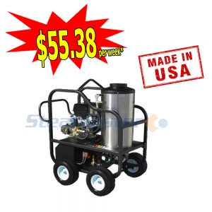 Steamaster Typhoon 1528H Mobile Petrol Hot Water Pressure Washer 8988