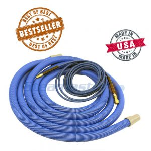 web 1 5 (38mm G-Vac) (38mm G-Vac) Crush Proof Vacuum Hose with Cuffs & Solution Hose Assembly 15m 258