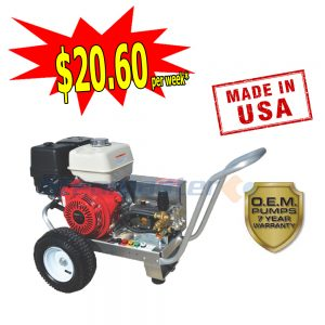 web Steamaster Hurricane 1528 Belt-Drive Petrol Pressure Washer 4200PSI