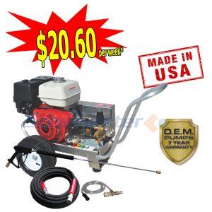 web Steamaster Hurricane 1528 Belt-Drive Petrol Pressure Washer 4200PSI plus