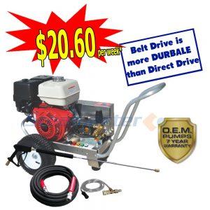 web Steamaster Hurricane 1528 Belt-Drive Petrol Pressure Washer 4200PSI plus2