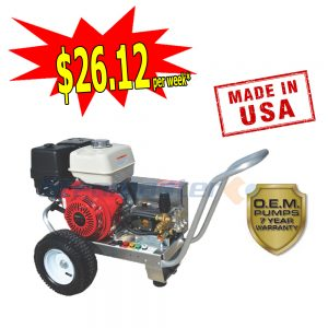 web Steamaster Hurricane 1528E Belt-Drive Electric Start Petrol Pressure Washer 4200PSI
