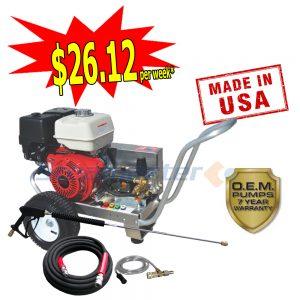 web Steamaster Hurricane 1528E Belt-Drive Electric Start Petrol Pressure Washer 4200PSI plus