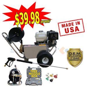 web honda gx390 with free nozzle box & mini reel-6488