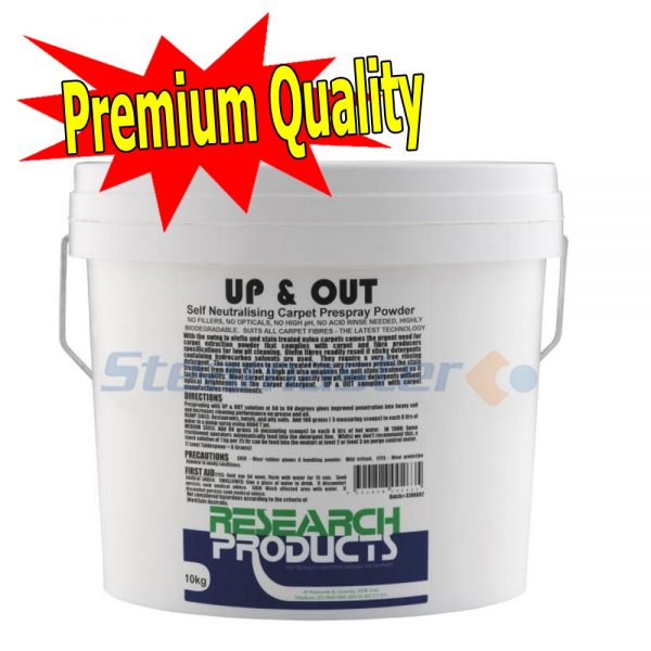 Research Products Up Out Carpet Pre Spray Powder 10KG 600x600