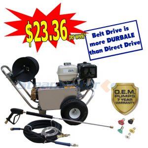 web Honda GX390 Steamaster Hurricane 1528 Belt-Drive Petrol Pressure Washer 4200PSI 3388