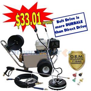 web Honda GX390 Steamaster Hurricane 1528E Belt-Drive Petrol Pressure Washer 4988 sale 4788
