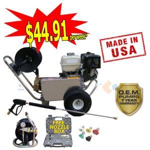 web honda gx390 with free nozzle box & mini reel-7288
