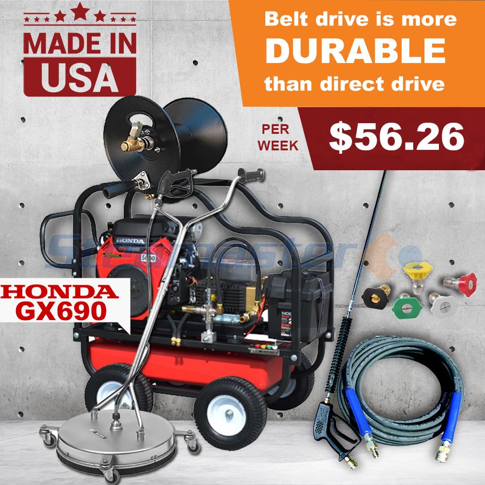 5000 psi petrol pressure washer business start up kit honda gx690 rh steamaster com au
