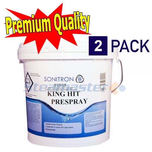 2 x Sonitron King Hit 10Kg Heavy Duty Carpet Prespray Powder 300x300