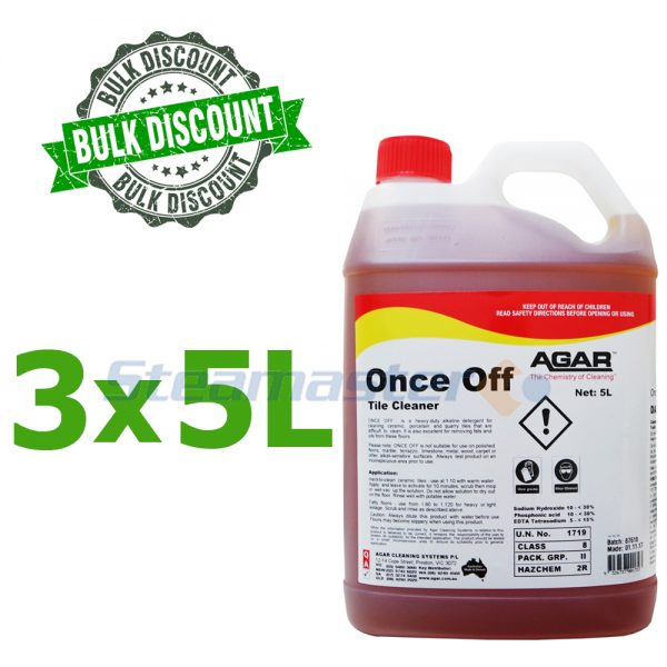 Agar Once Off Alkaline Tile and Grout Cleaner 15L 300x300